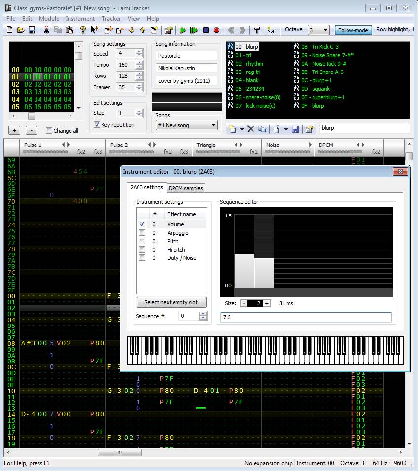 Famitracker v0.4.6 - Virtual Studio Technology