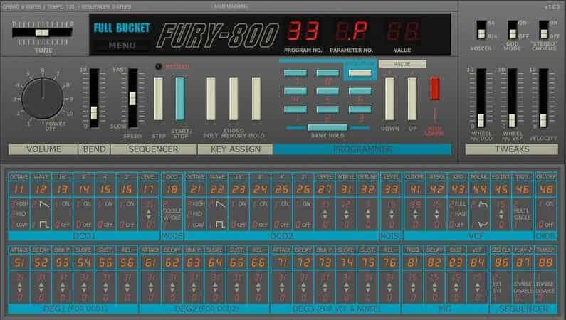 Full Bucket Music - Fury-800